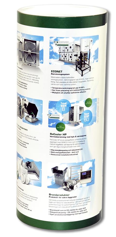 reklam förpackningar med eget tryck som papptub med lock